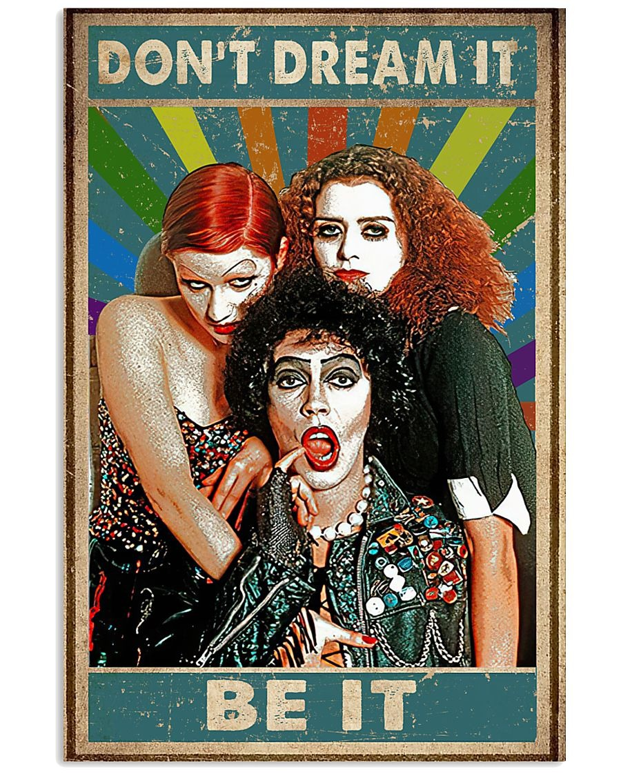 Don't Dream It Be It Rocky Horror Vintage poster