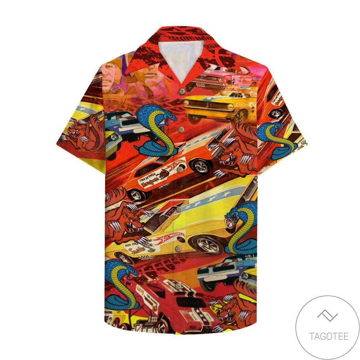 Drag Racing Snake And Mongoose Hawaiian Shirt