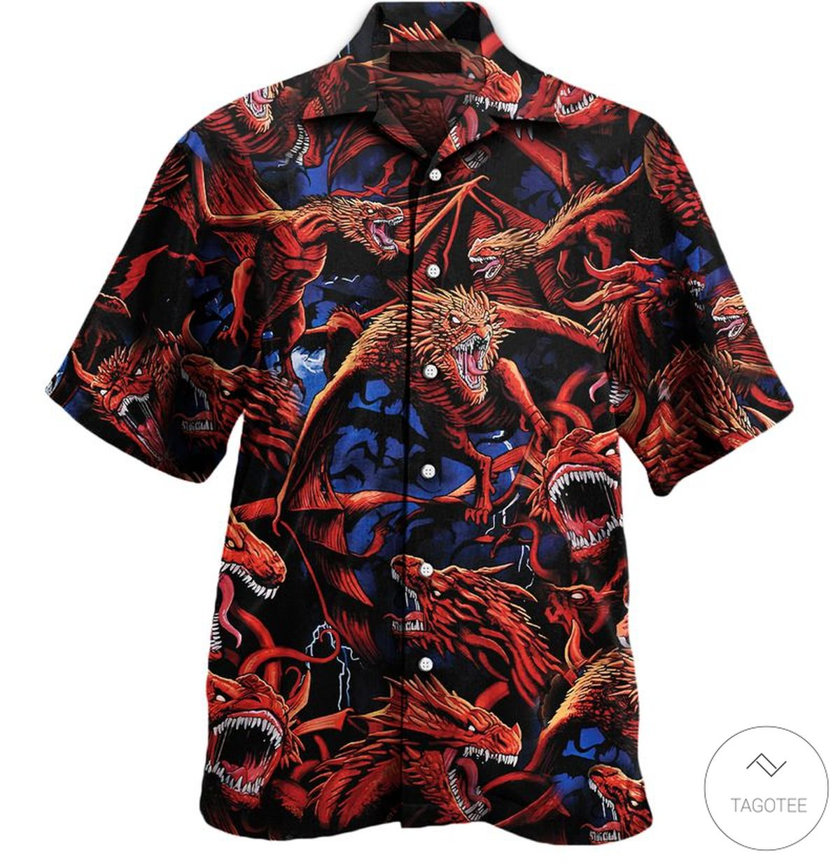 Dragon Art Pattern Hawaiian Shirt