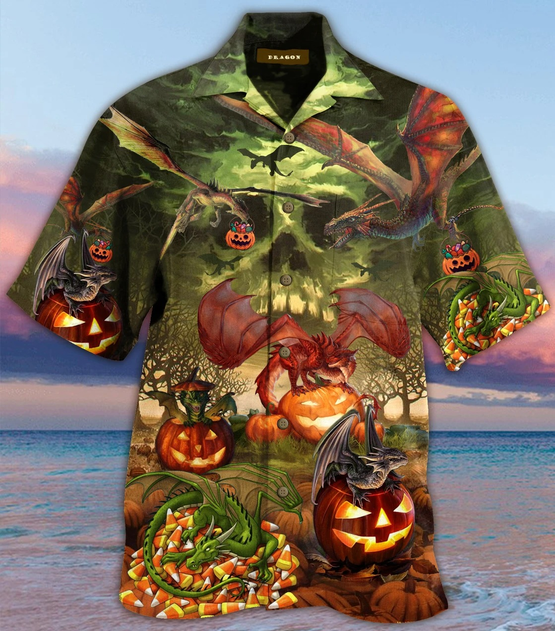 Dragon Halloween Unisex Hawaiian Shirt