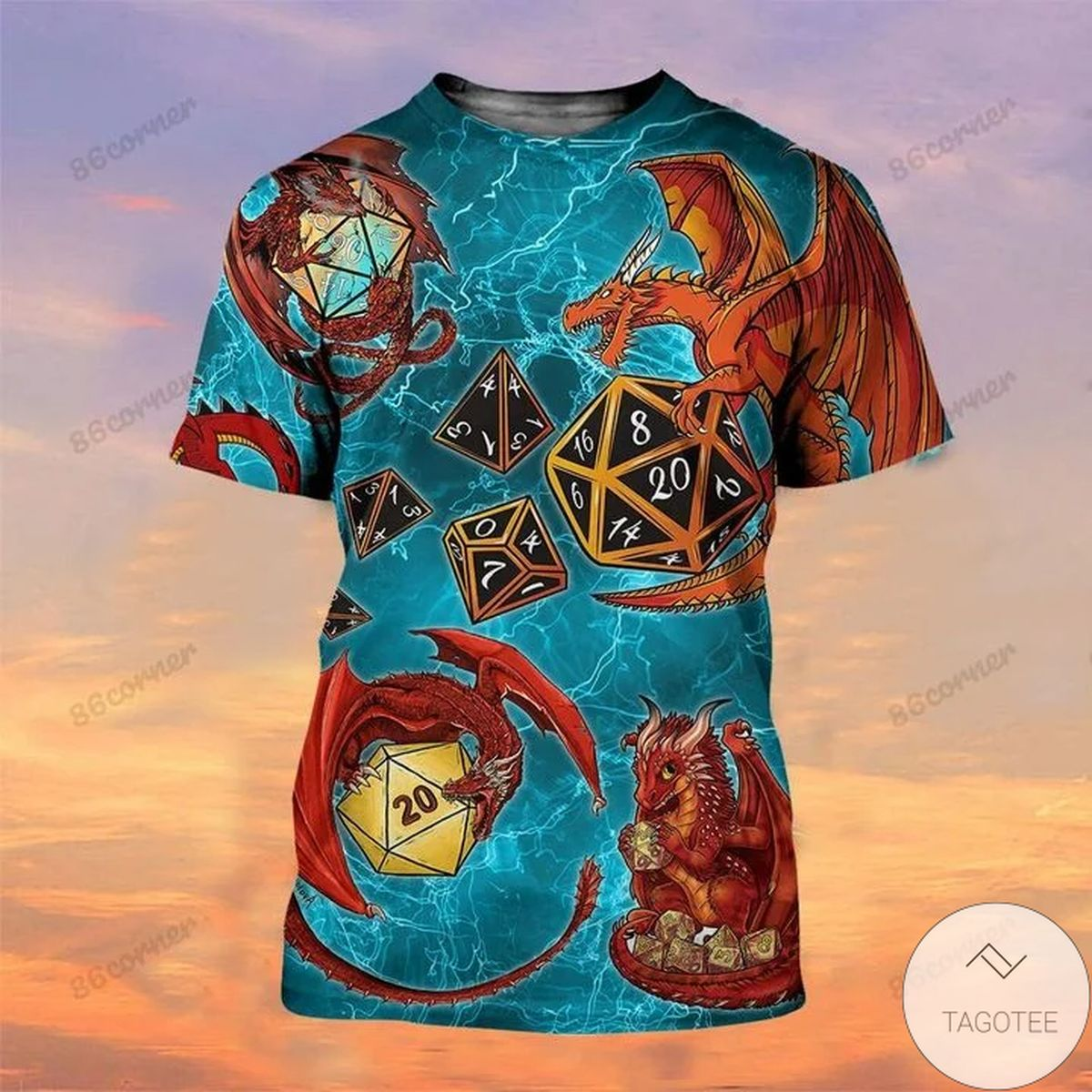 Adult Dragons And Dungeon Dice Shirt