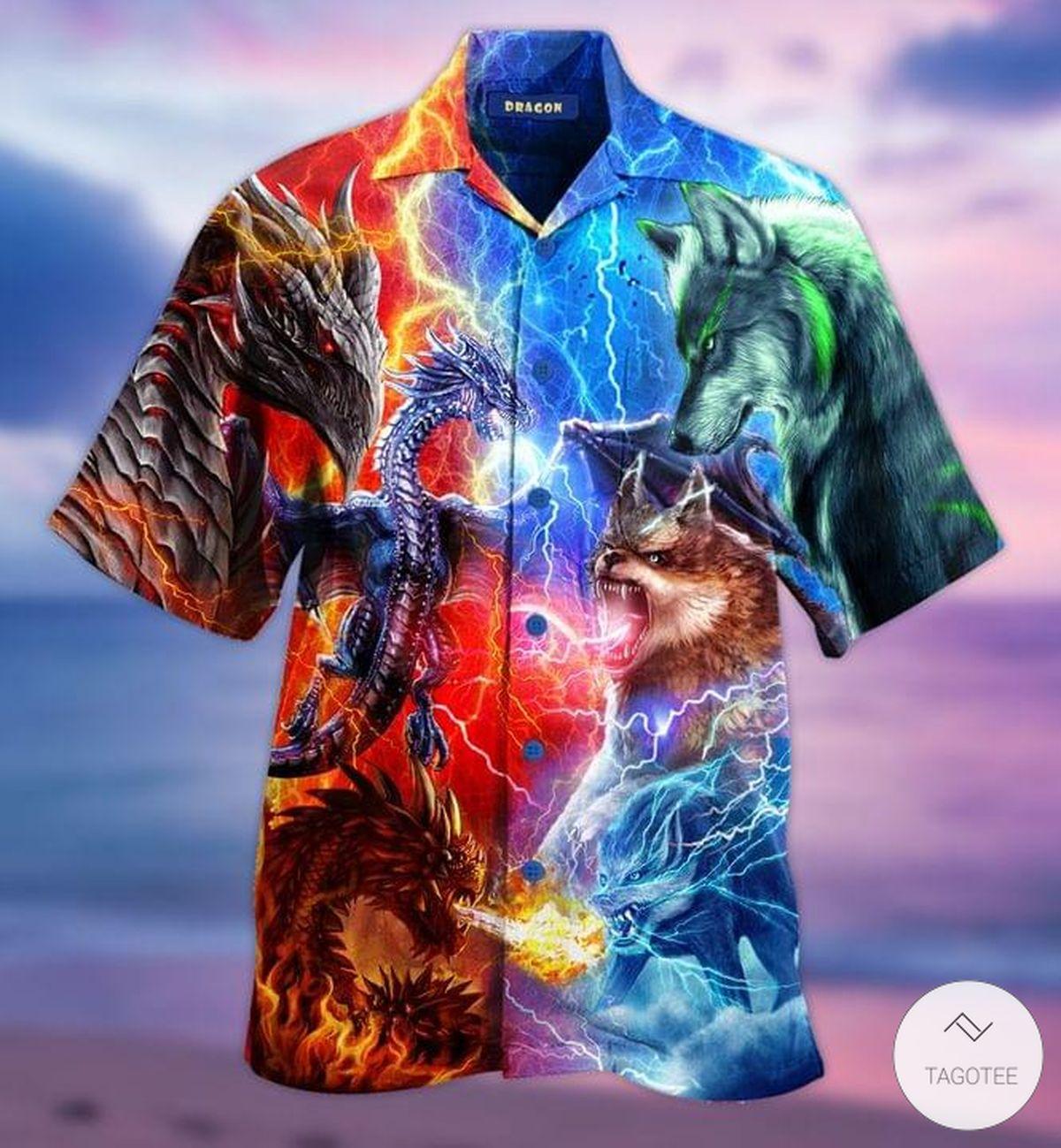 Dragons Wolves Hawaiian Shirt