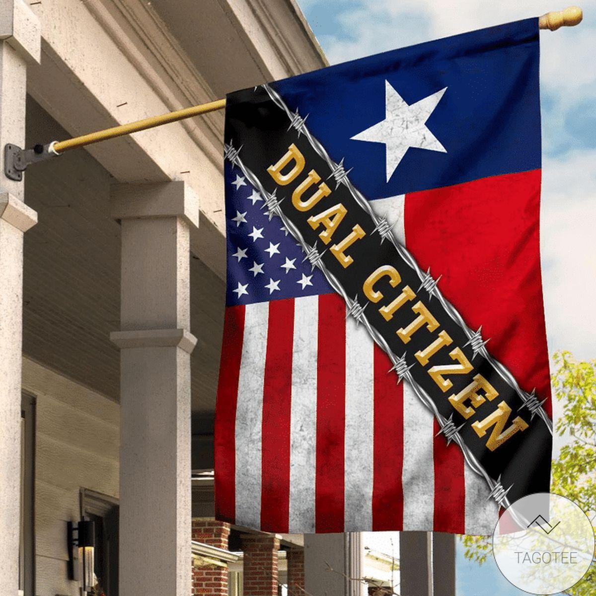 Dual Citizen Texas Flag And American Flag Texas State Proud Texan Flag