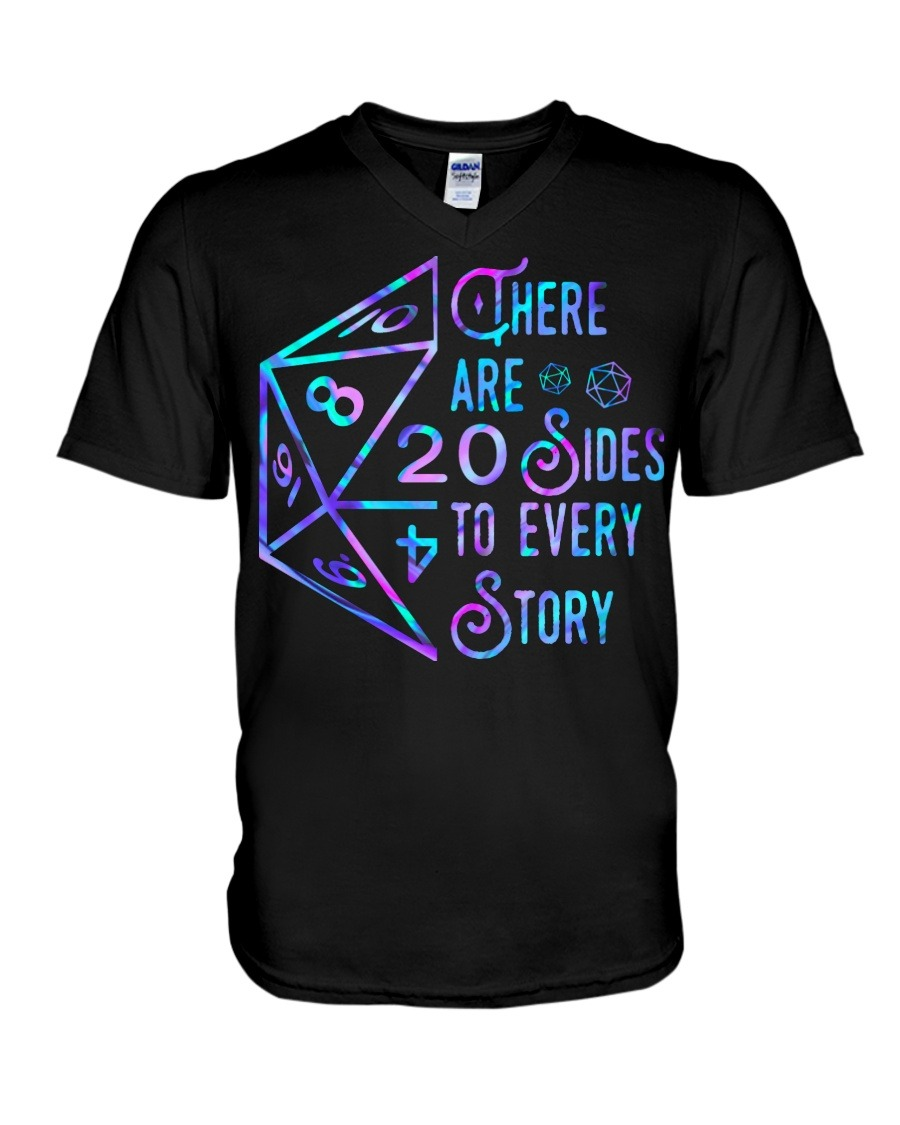 Dungeons and Dragons There are 20 sides to every story V-neck