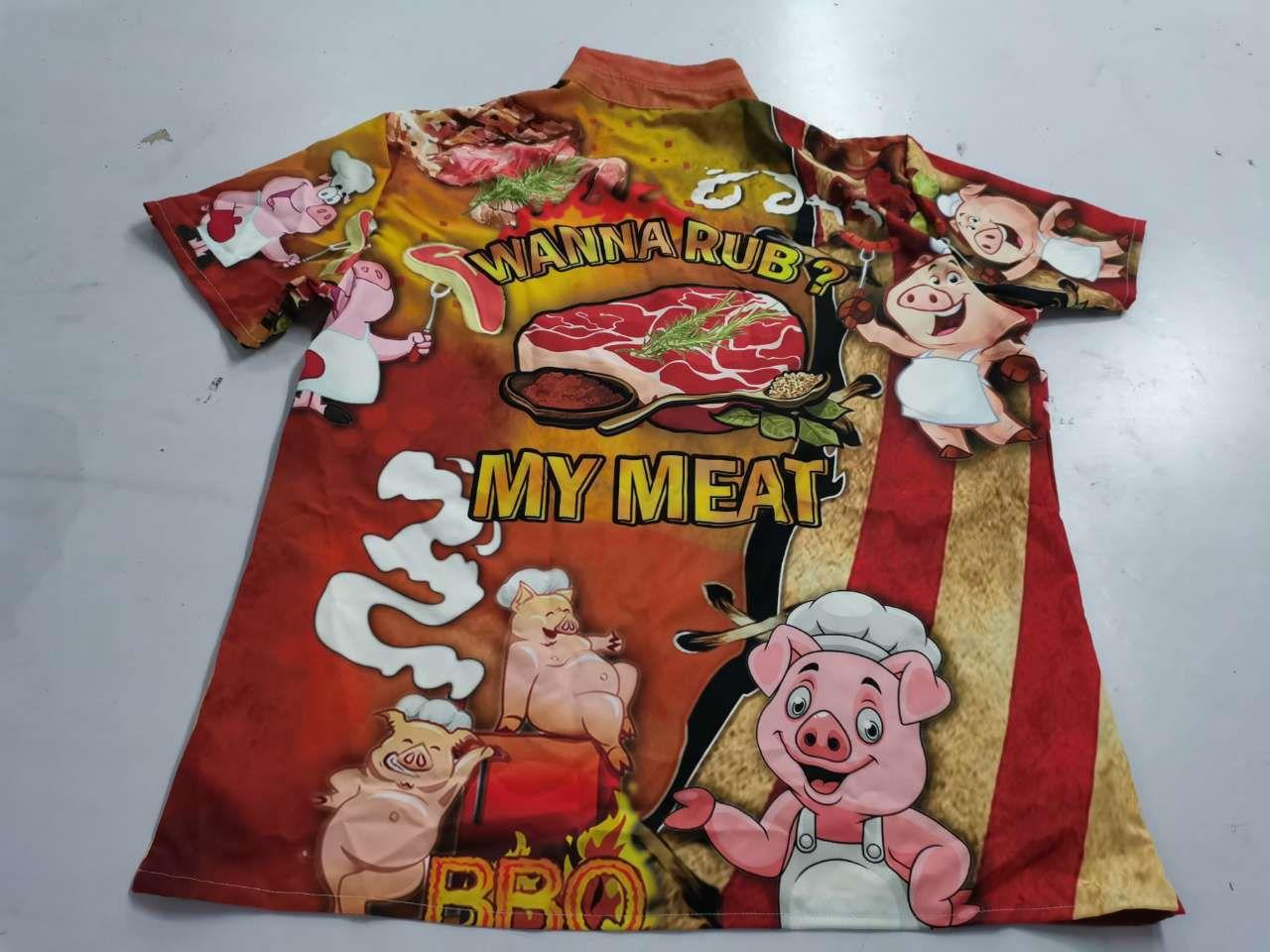 Wanna Rub My Meat Pork Pig Hawaiian shirt photo review