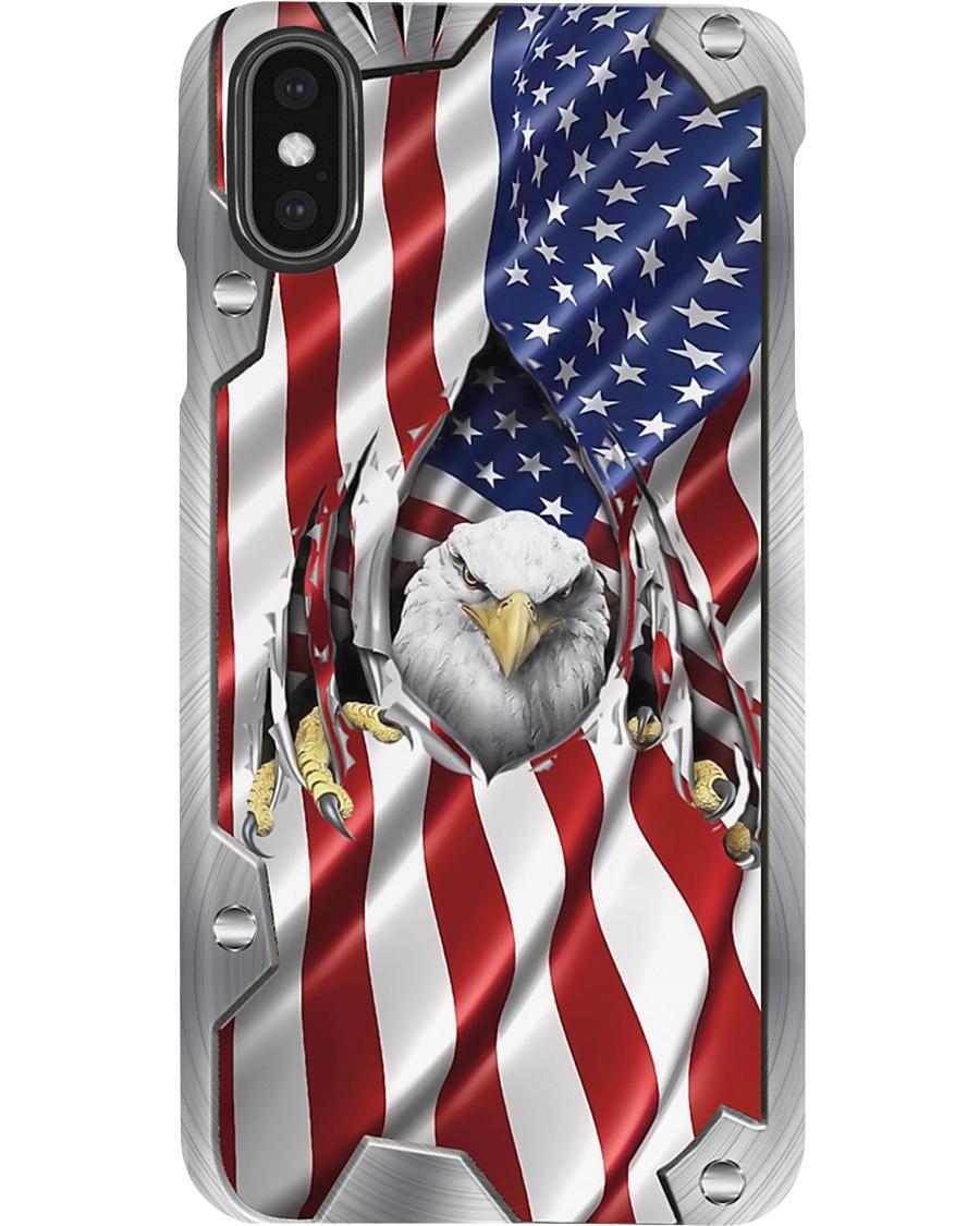 Eagle American Flag Metal Pattern Phone Case 7