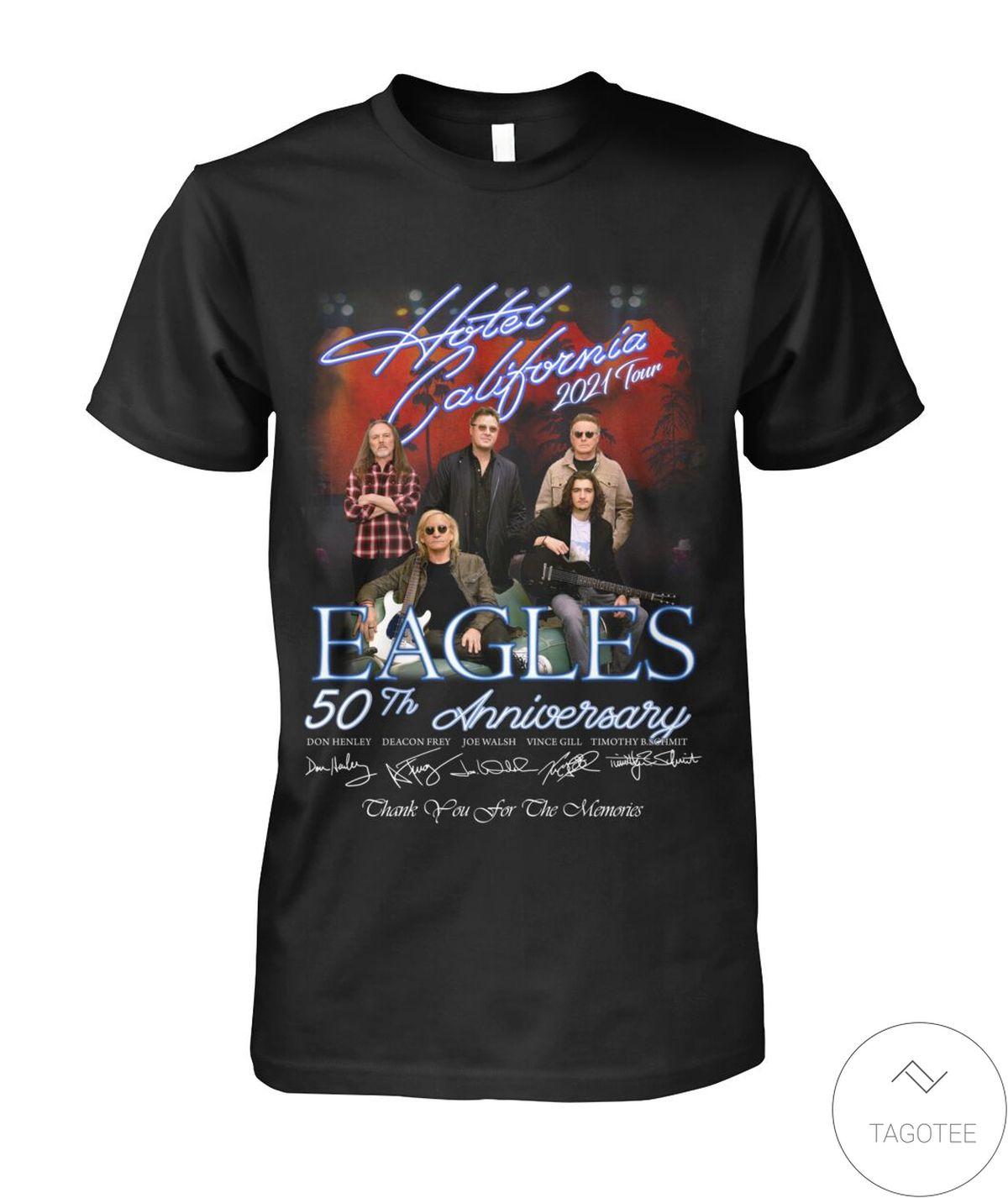 Eagles 50th Anniversary Hotel California 2021 Tour Shirt