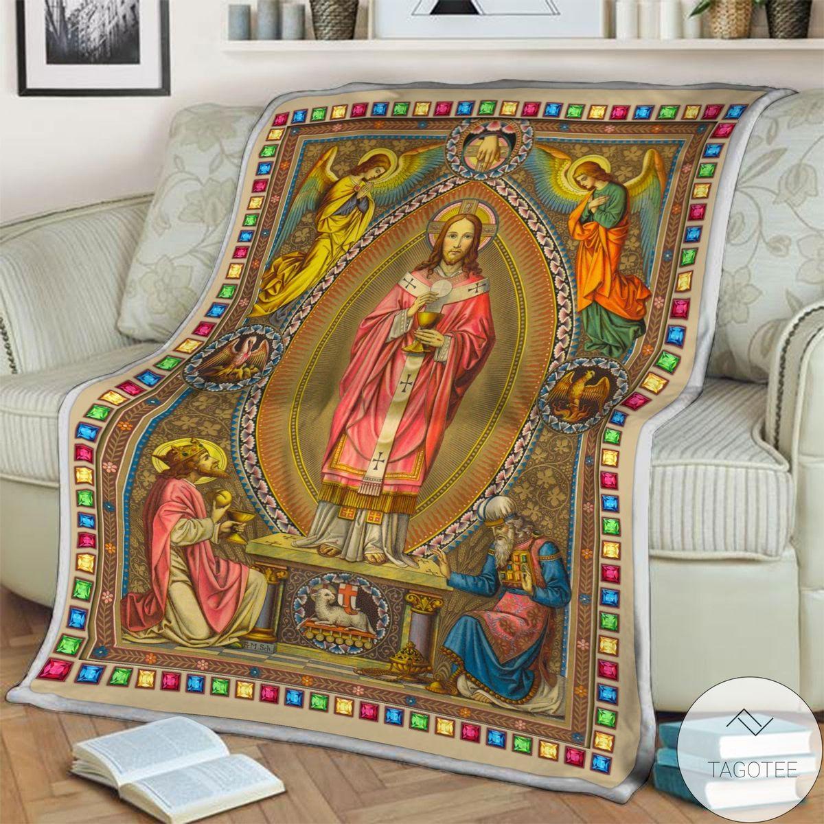 POD Eastern Orthodox Jesus Blanket