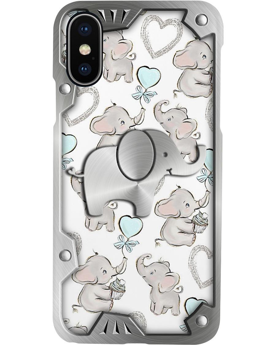 Elephants Metal pattern phone case