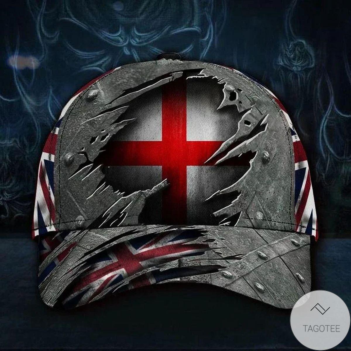 England 3D Hat Print Union Jack Flag Cap Vintage Hat England Hats For English Dad Gift