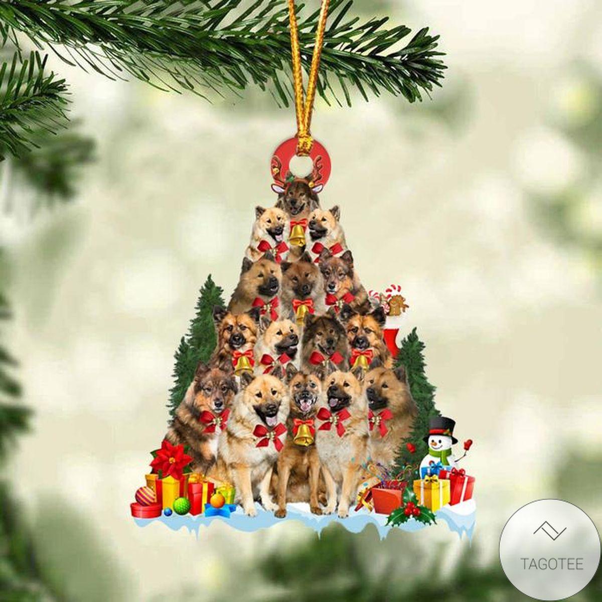 Eurasier Dog Christmas Tree Ornament
