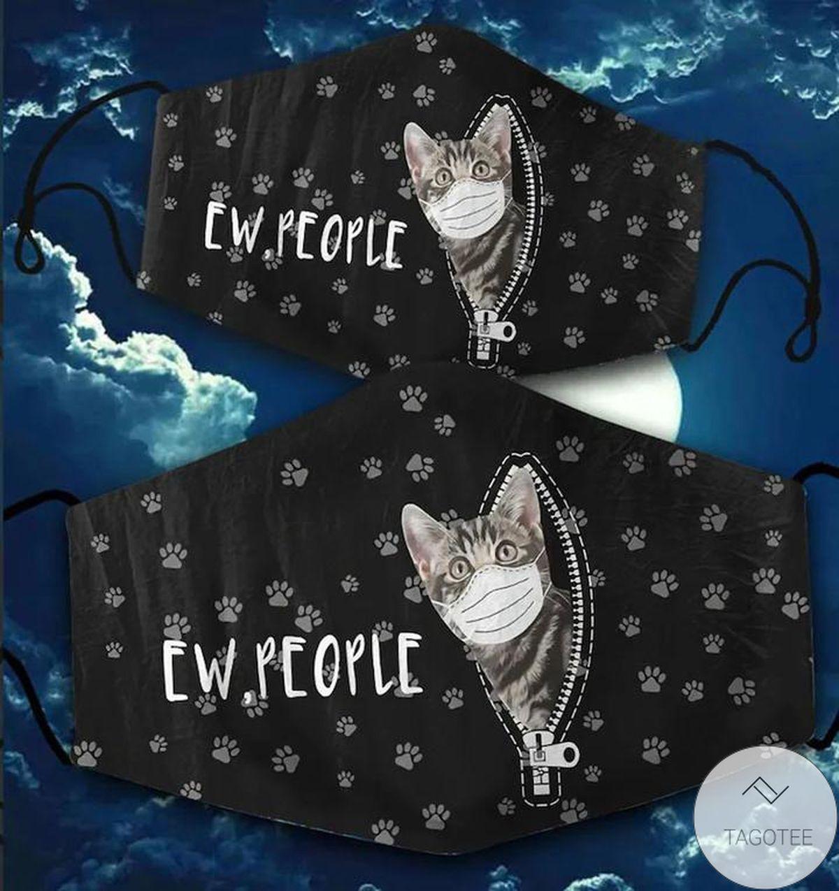 Ew People Black Cat Cloth Face Mask