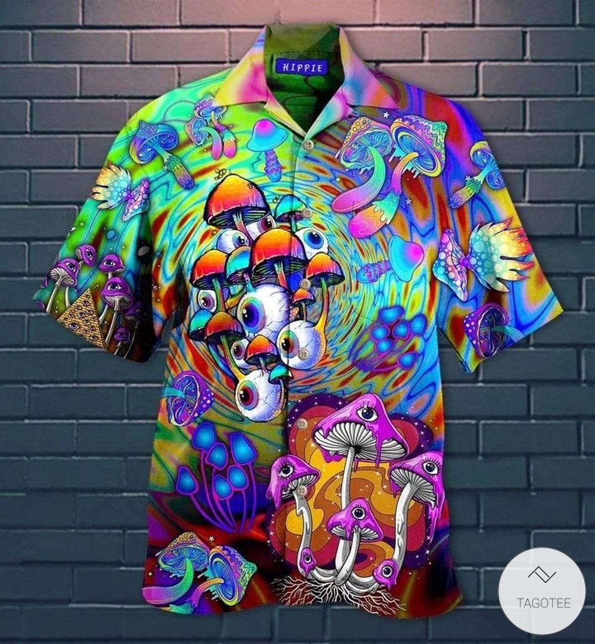 EyesEyes Mushroom Hippie Hawaiian Shirt Mushroom Hippie Hawaiian Shirt