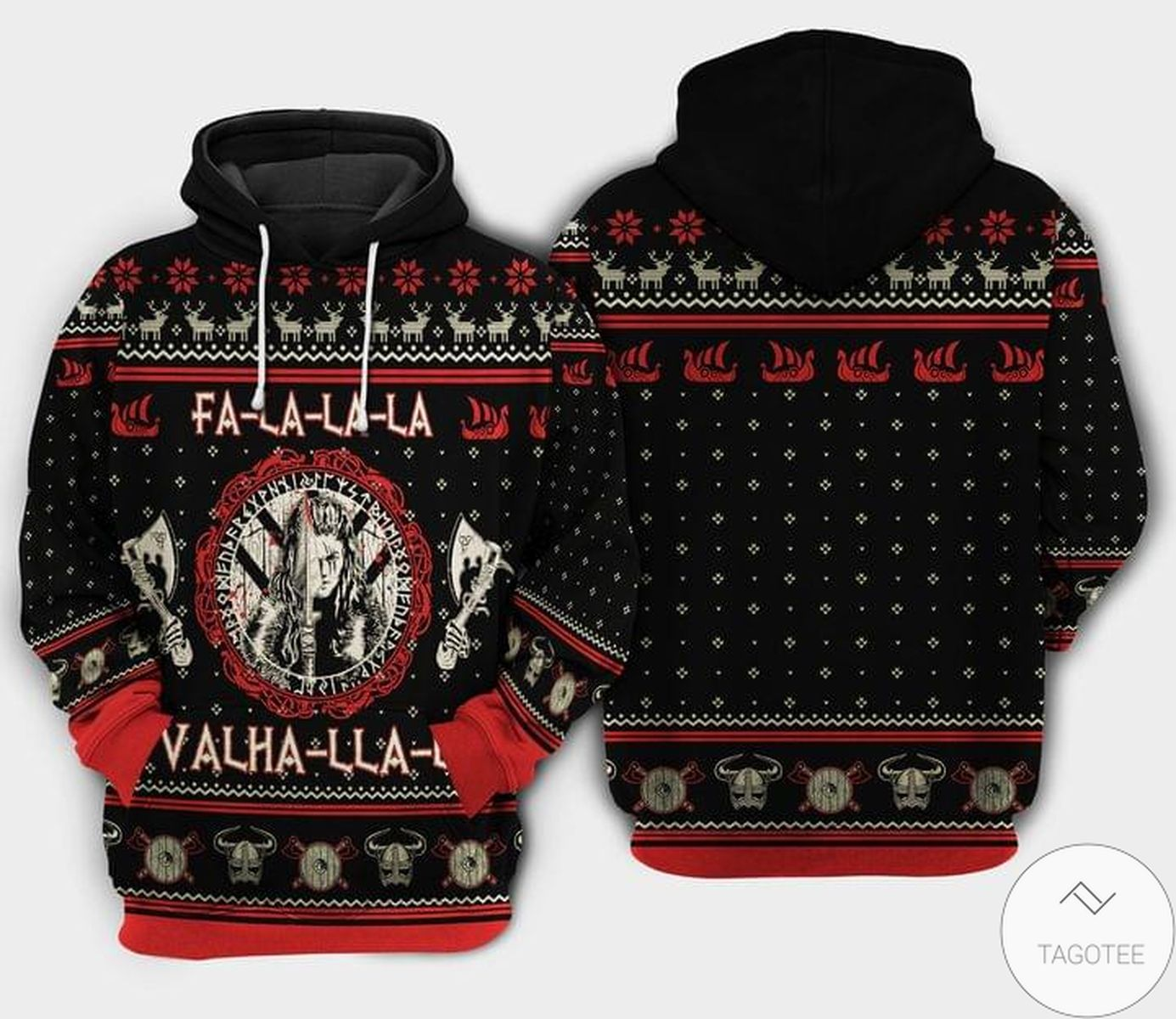 Fa La La La Valhalla Viking Hoodie