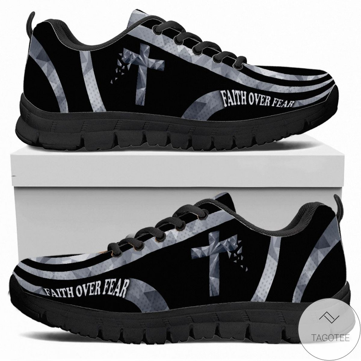 Excellent Faith Over Fear - God Sneakers