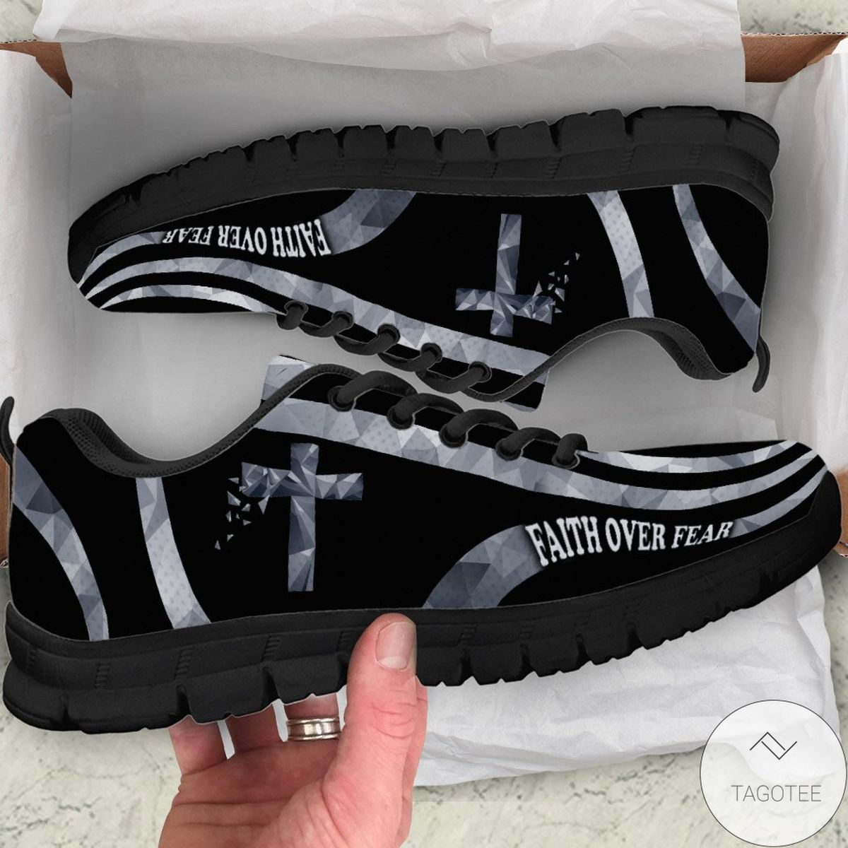Top Rated Faith Over Fear - God Sneakers