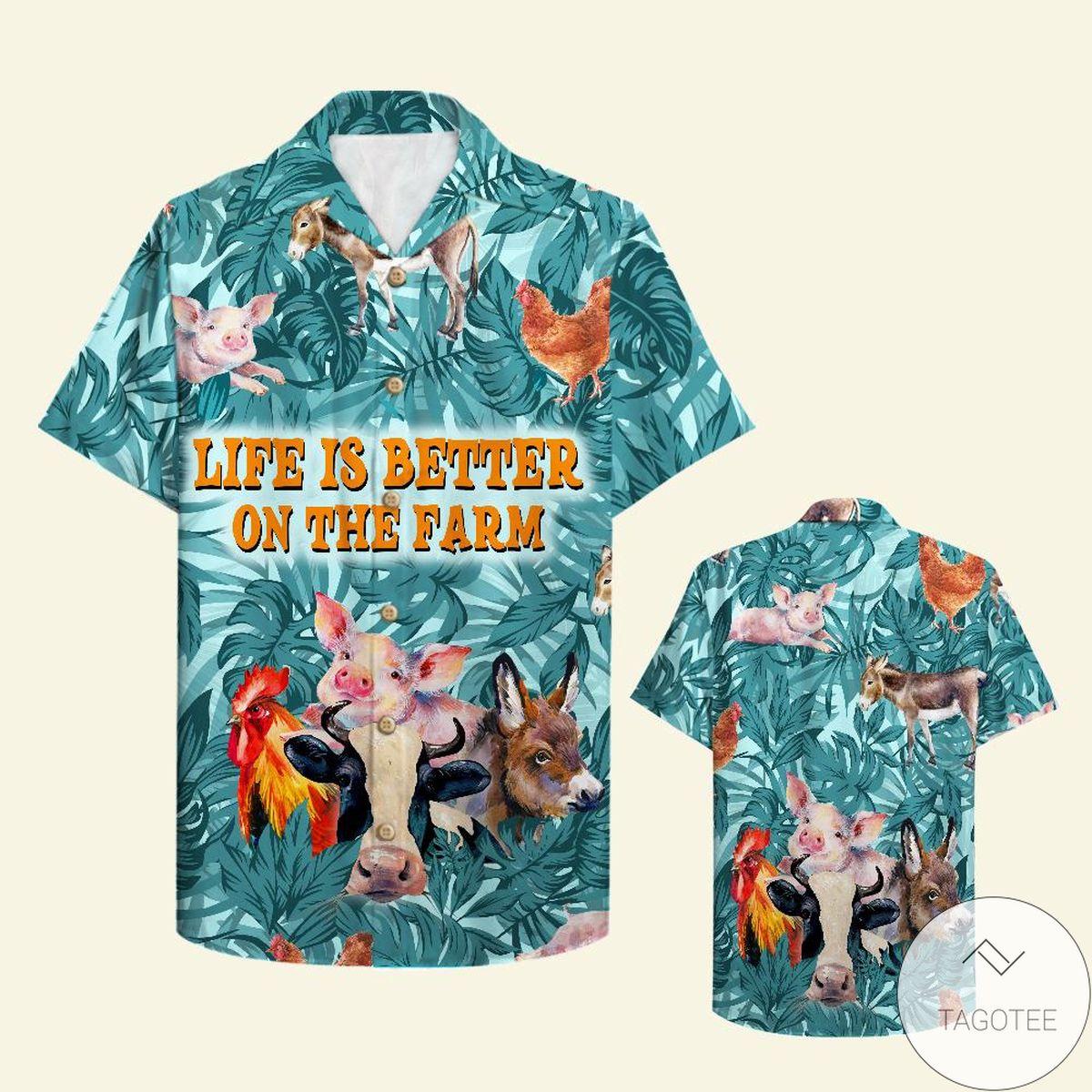Farmer Life Is Better On The Farm Hawaiian Shirt
