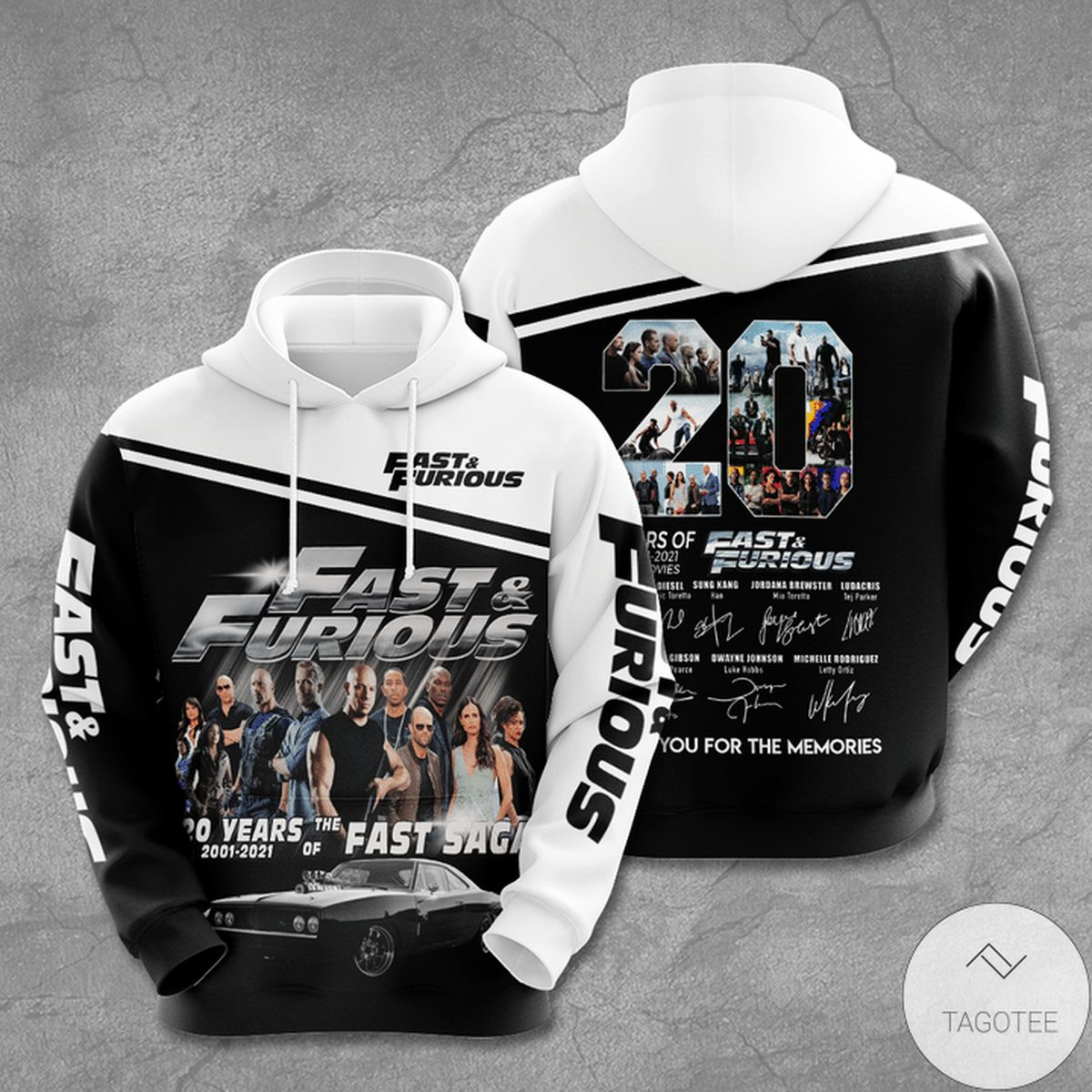Fast And Furious 20 Years Anniversary 3d Hoodie
