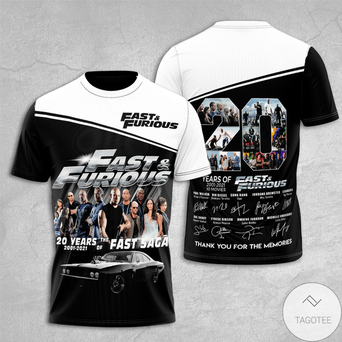 Fast And Furious 20 Years Anniversary 3d Shirt