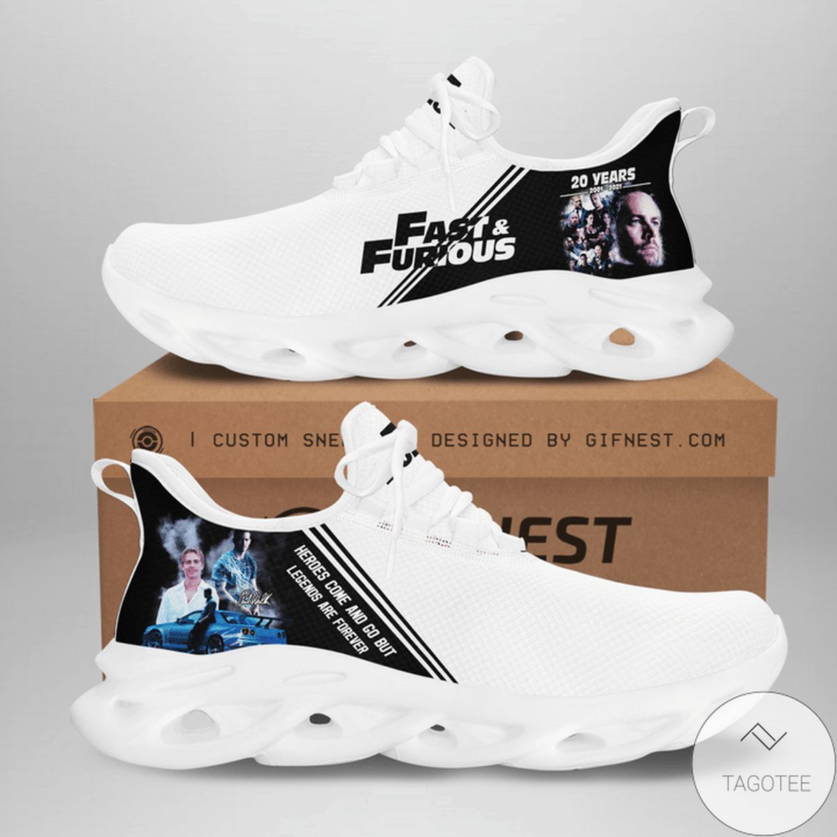 Fast And Furious Paul Walker Thank You For The Memories Sneaker Max Soul Shoes