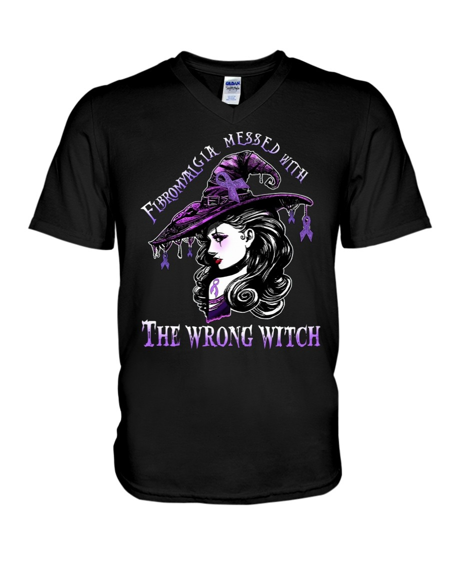 Fibromyalgia messed with The wrong witch V-neck