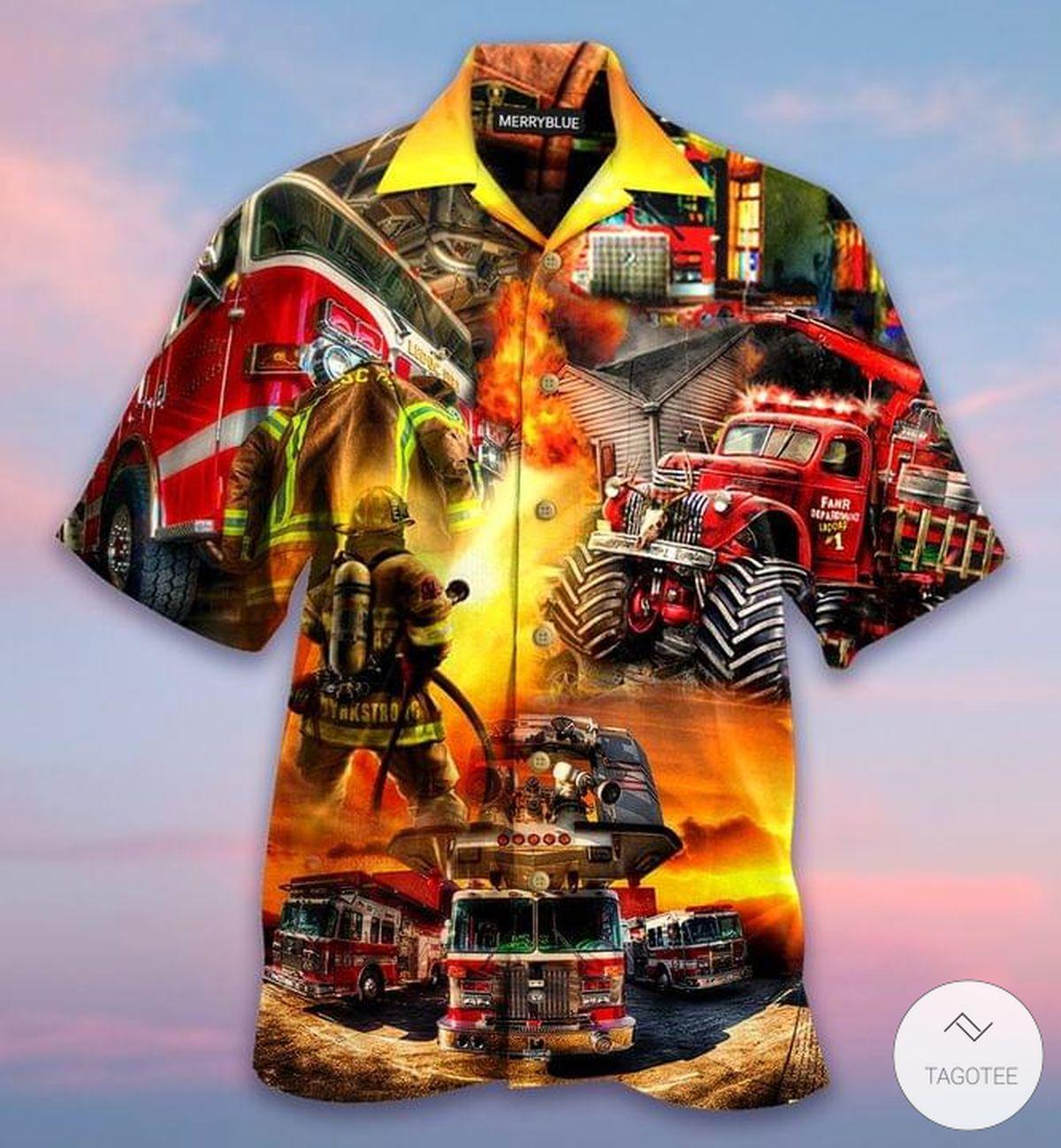 Firefighter Truck Hawaiian Shirt