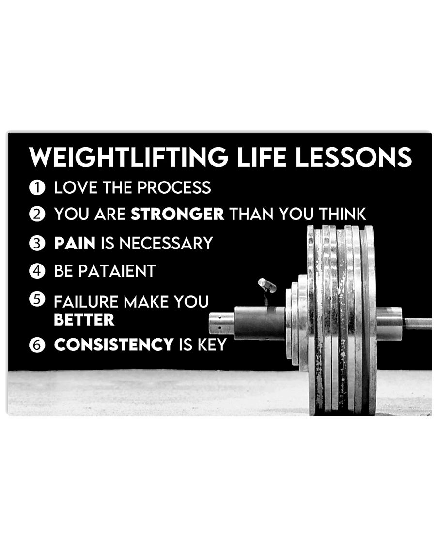 Fitness Weightlifting Life Lessons Poster