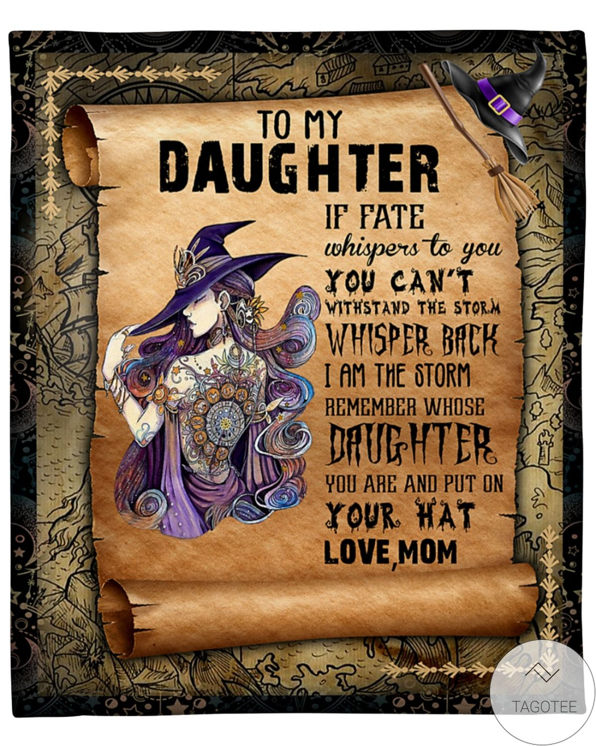 For Witch's Daughter Remember Whose Daughter You Are And Put On Your Hat Blanket