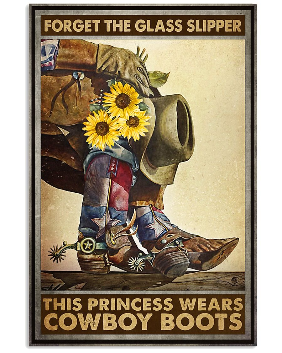 Forget glass slippers this princess wears boots poster