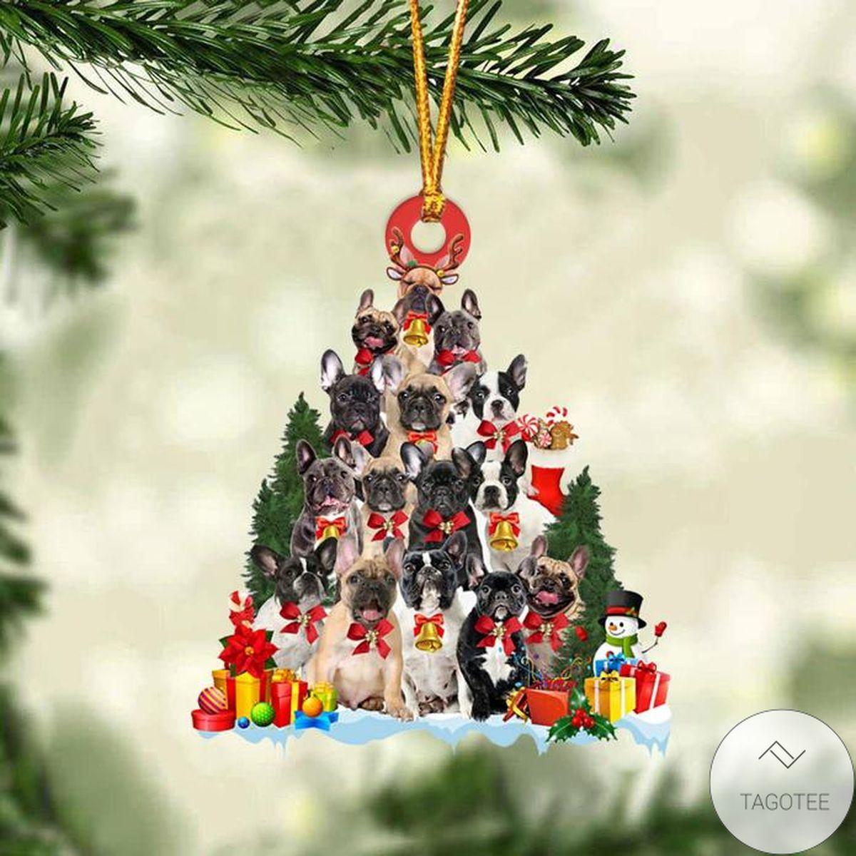 Fantastic French Bulldog Dog Christmas Tree Ornament