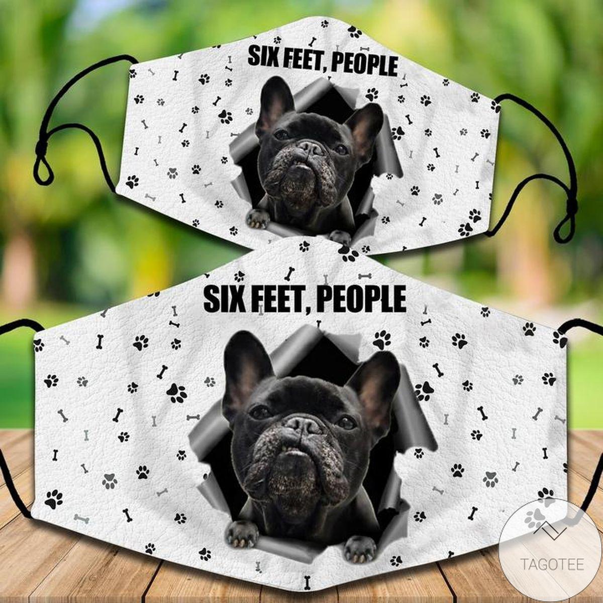French Bulldog Six Feet People Face Mask