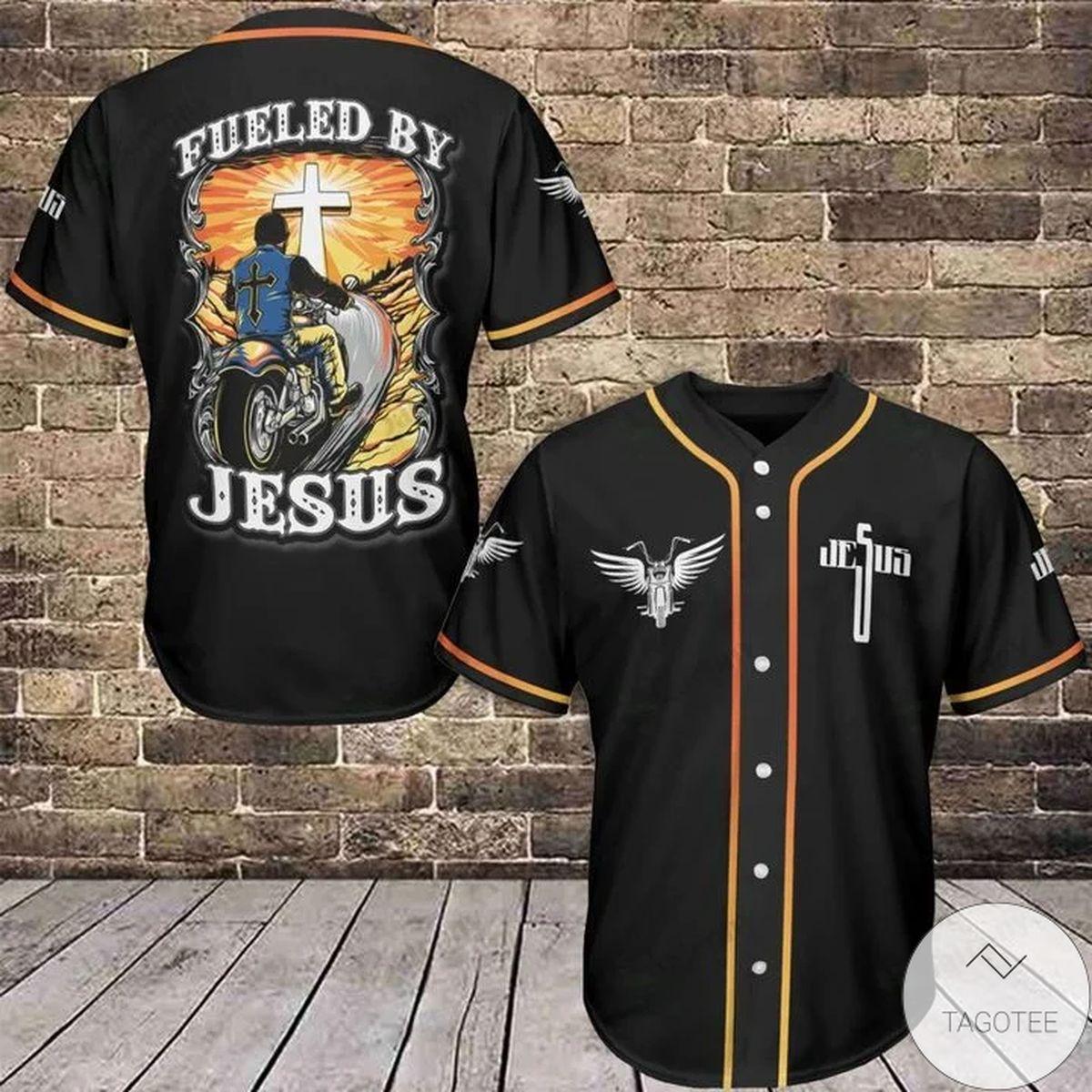 Fueled By Jesus Baseball Jersey