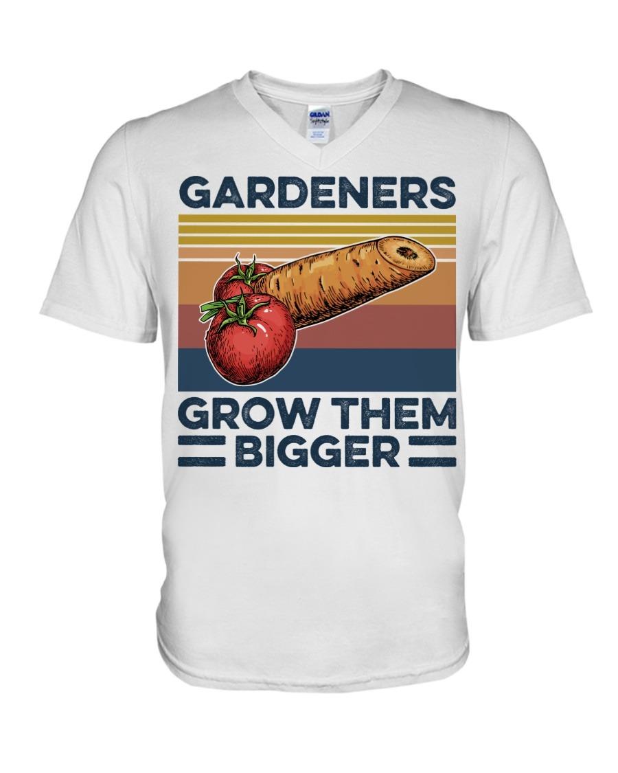 Garden Gardeners Grow Them Bigger V-neck