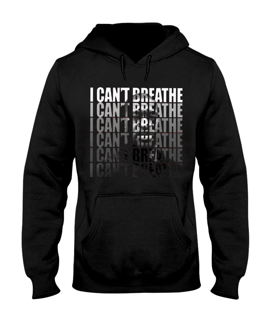 George Floyd I can't breathe I can't breathe portrait hoodie