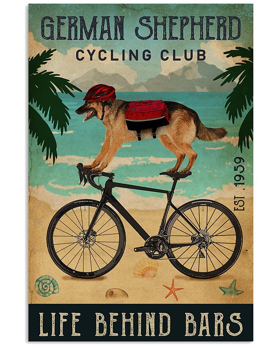 German Shepherd Cycling Club Life Behind Bars Poster 1