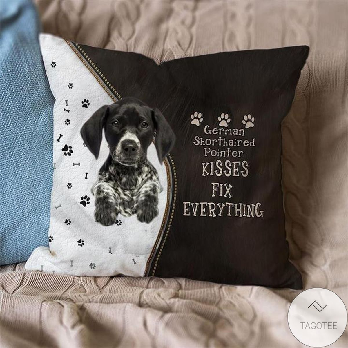 Funny Tee German Shorthaired Pointer Kisses Fix Everything Pillowcase