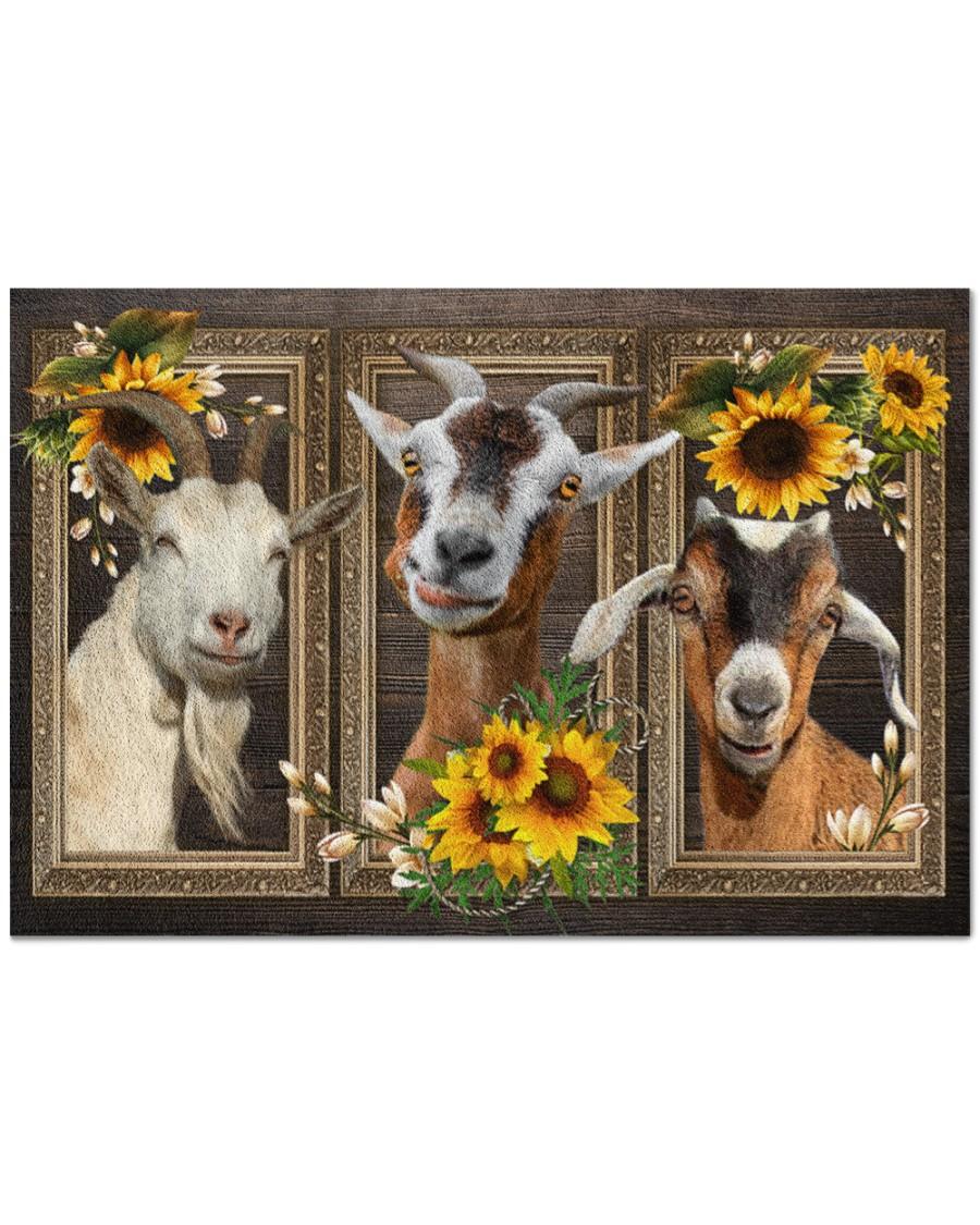 Goat Sunflower Doormat