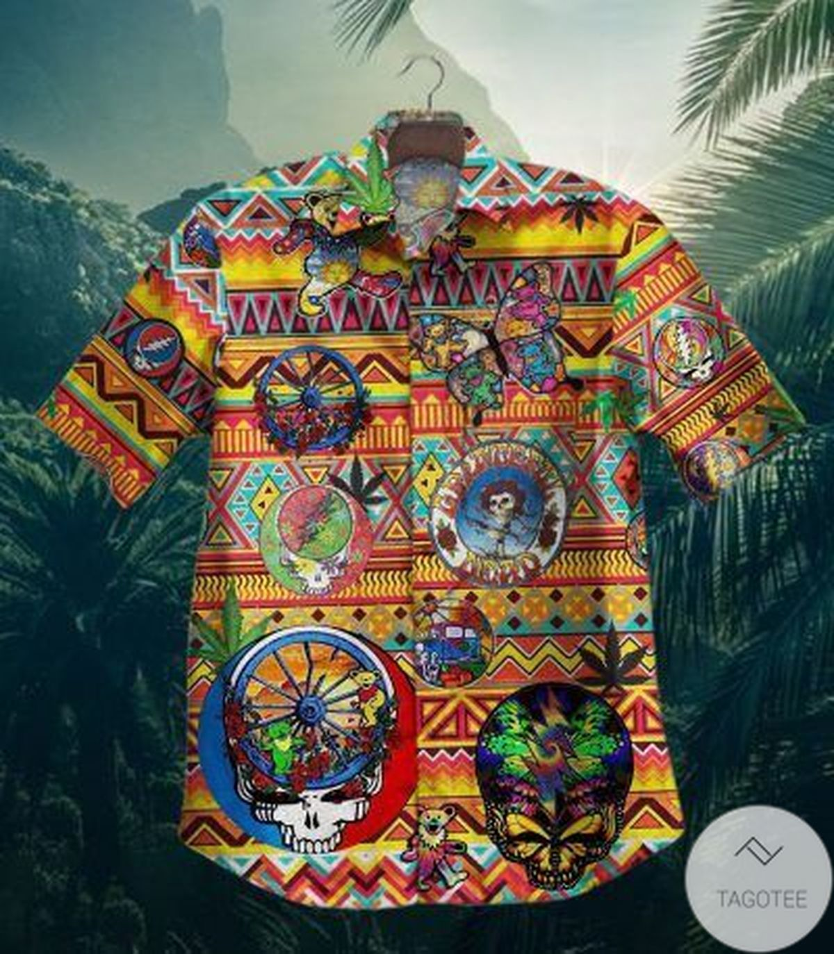 Grateful Dead Skull Tropical Vintage Hawaiian Shirt
