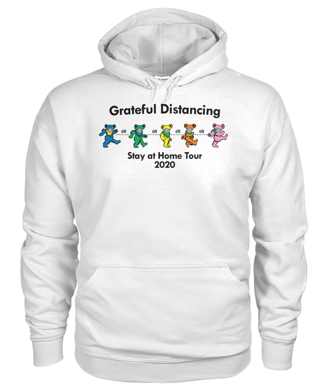 Grateful Distancing Stay at home tour 2020 hoodie