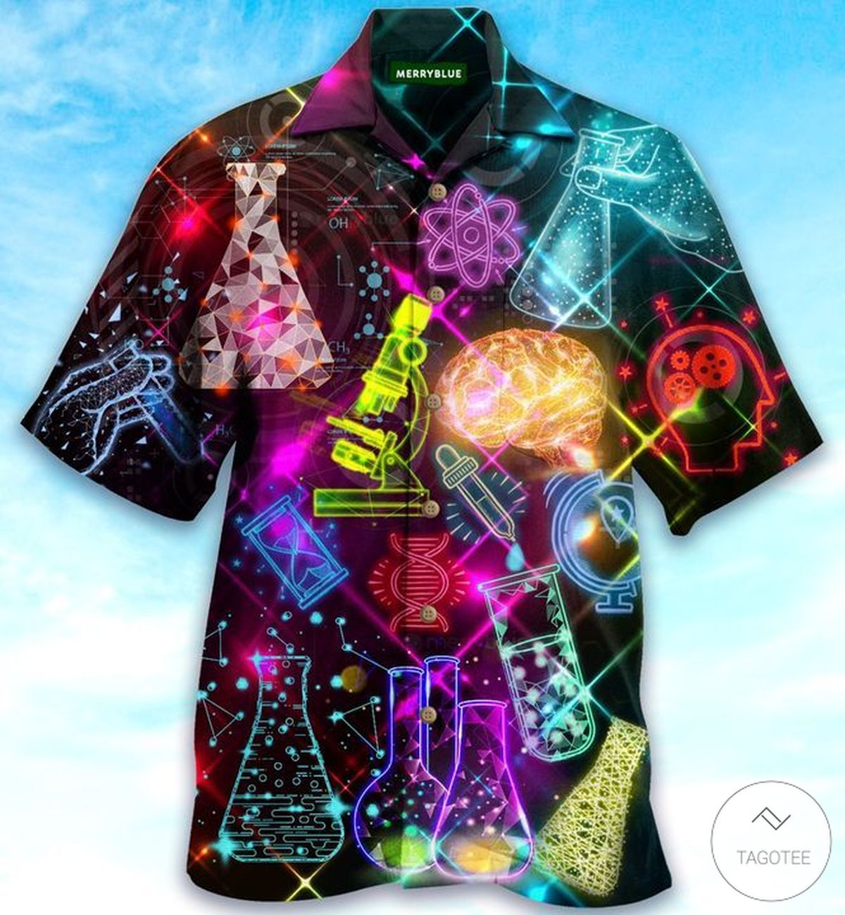 Great Inventions Come From Laboratory Glow Hawaiian Shirt
