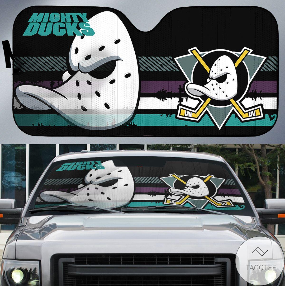 Green Anaheim Ducks Branded Universal Car Auto Sun Shade