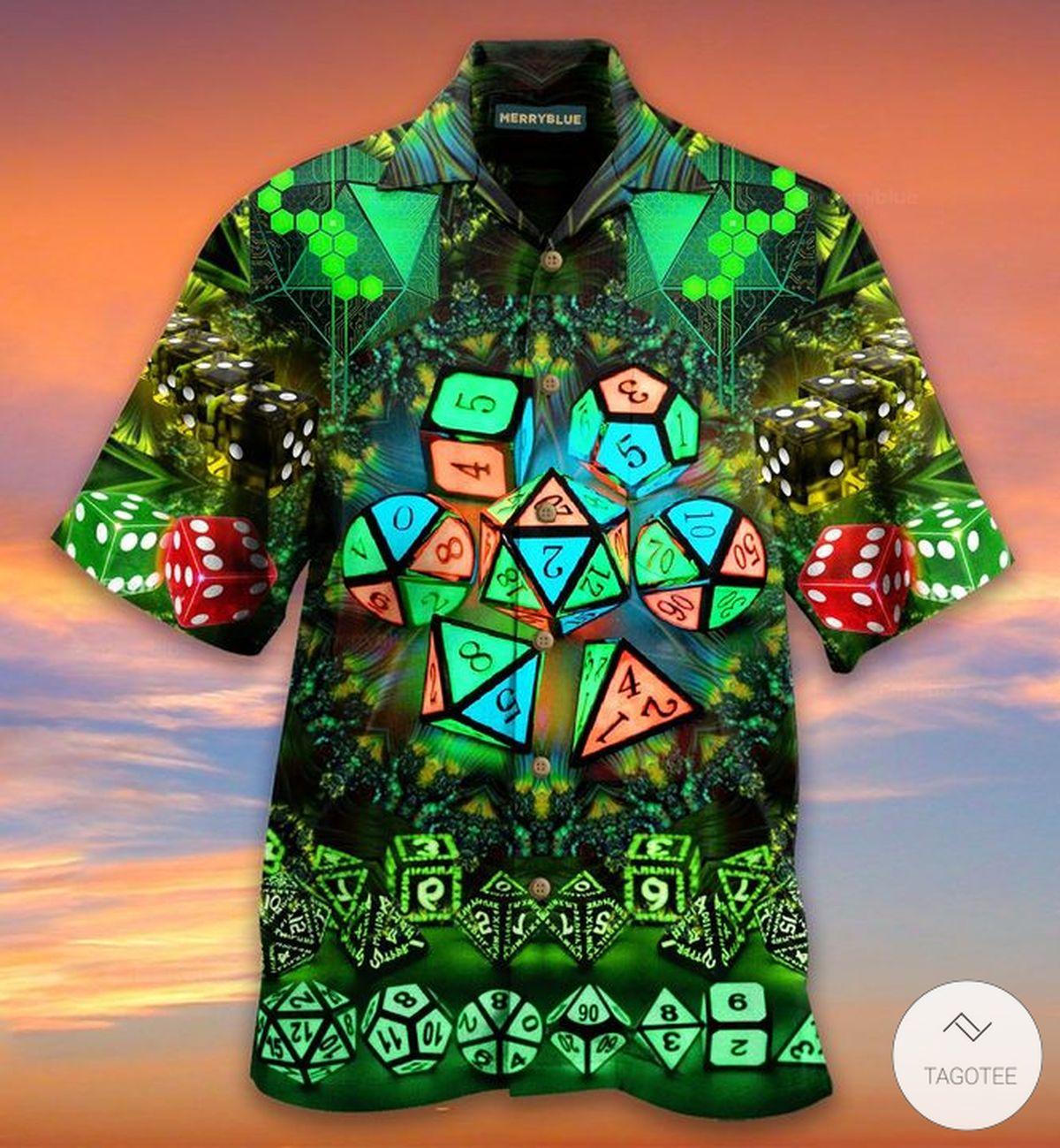 Green Dungeons And Dragons D&D Hawaiian Shirt