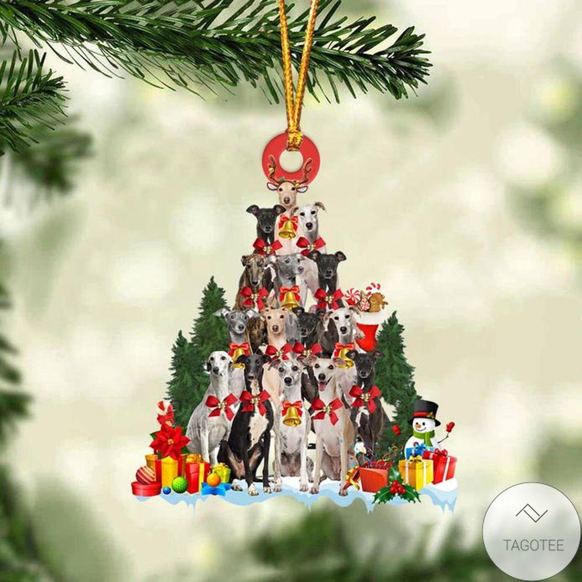 Greyhound Dog Christmas Tree Ornament