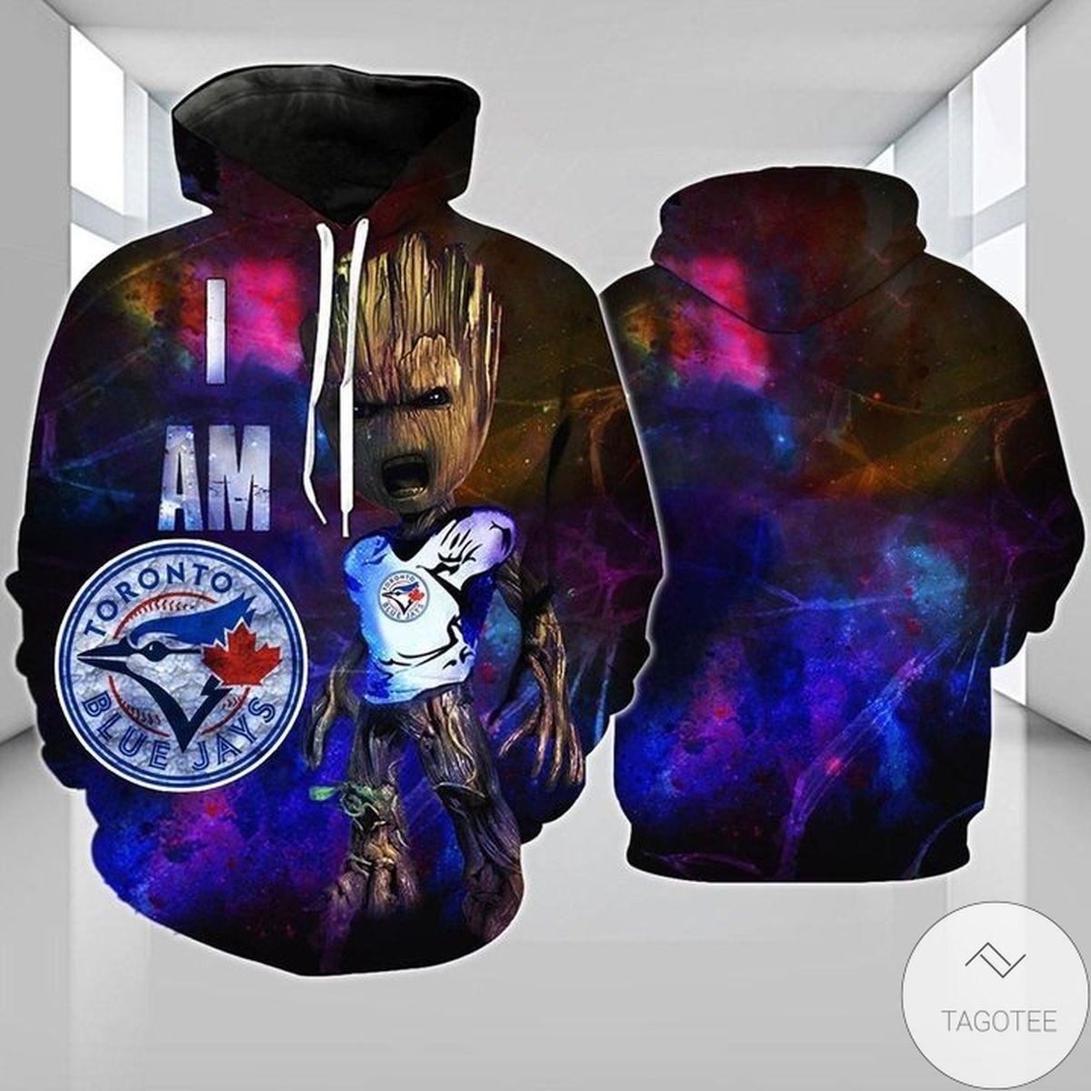 Groot Toronto Blue Jays 3d Hoodie