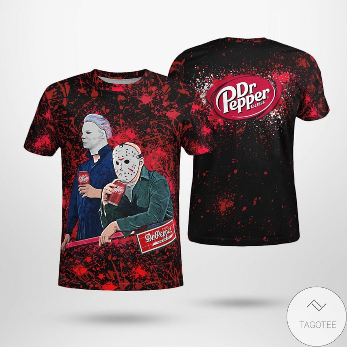 Halloween Dr Pepper Jason Voorhees Michael Myers Shirt