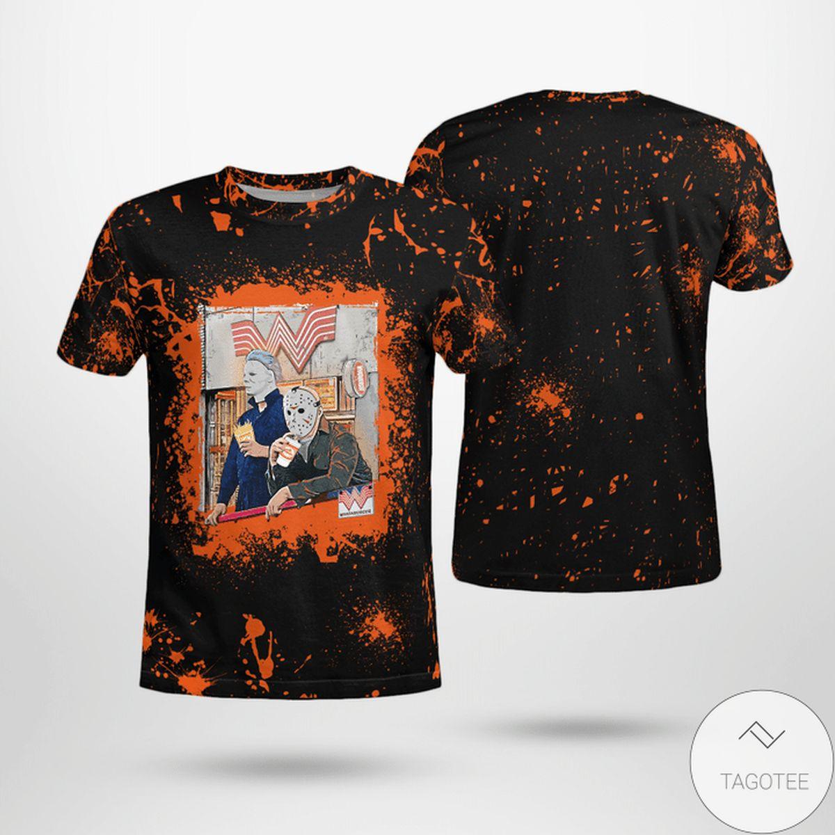 Halloween Whataburger Jason Voorhees Michael Myers Shirt