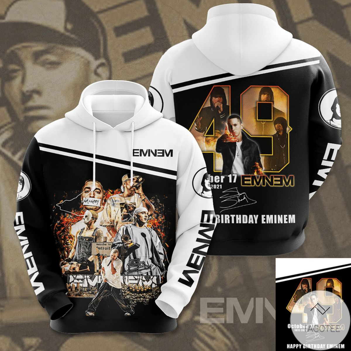 Fast Shipping Happy Birthday Eminem 3d Hoodie