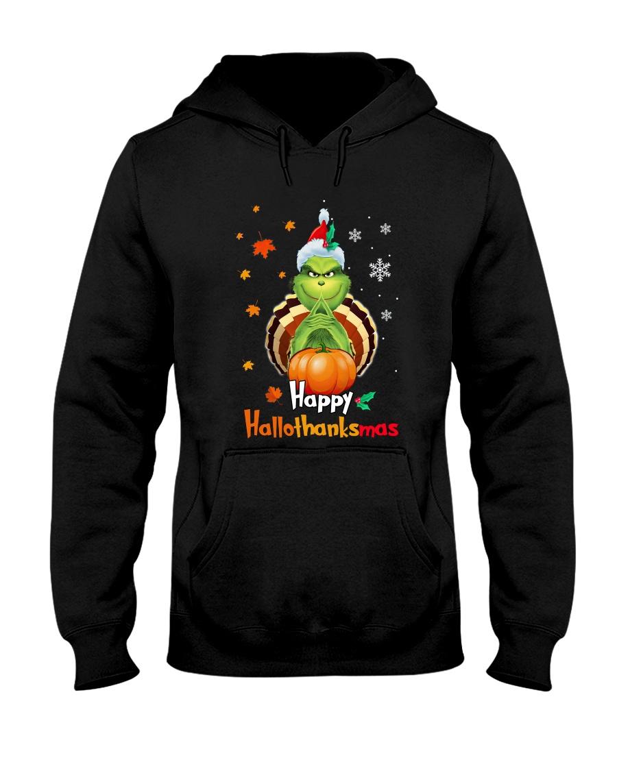 Happy Hallothanksmas Grinch hoodie