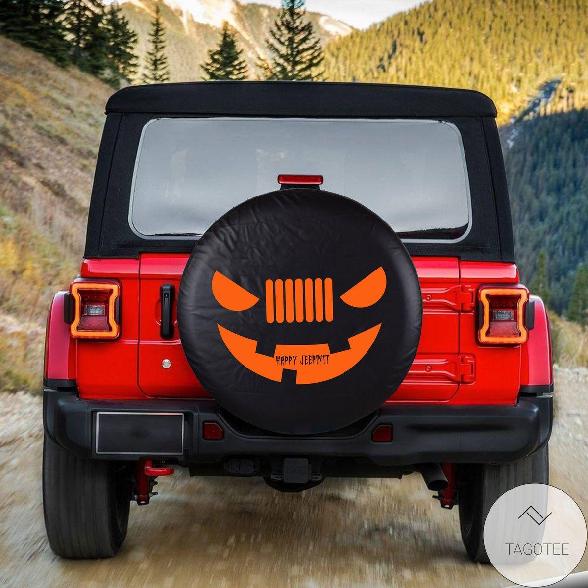 Happy Jeepinit Halloween Spare Tire Cover