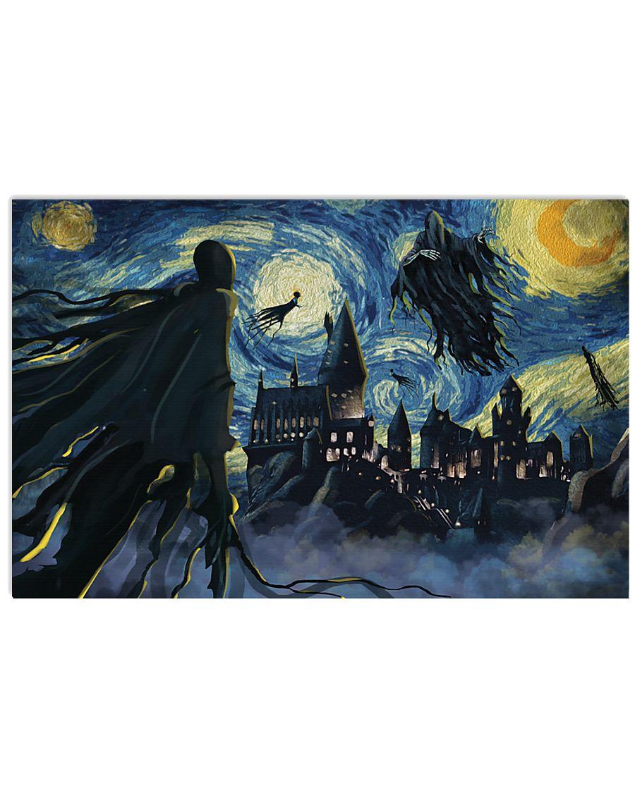 Harry Potter Dementors Starry Night Van Gogh poster